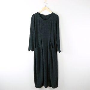 Grizas Crinkle Swirl Silk Cotton Bubble Dress